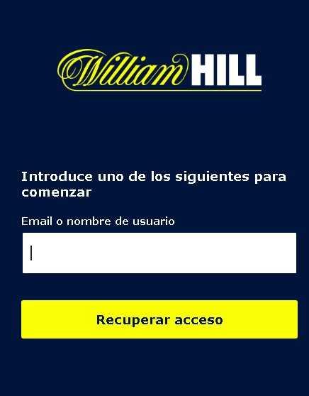 William Hill login error