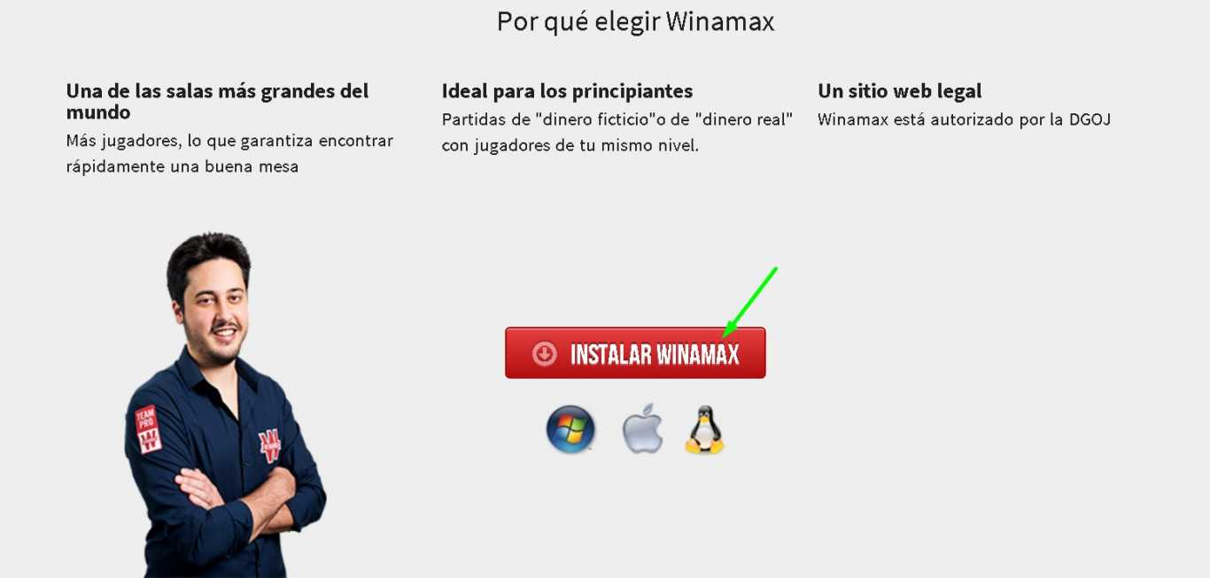 Winamax install for PC
